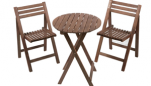 Devon 2 Seater Wooden Bistro Set