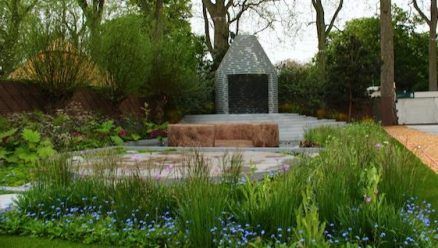 Forget-me-not garden by Jinny Blom